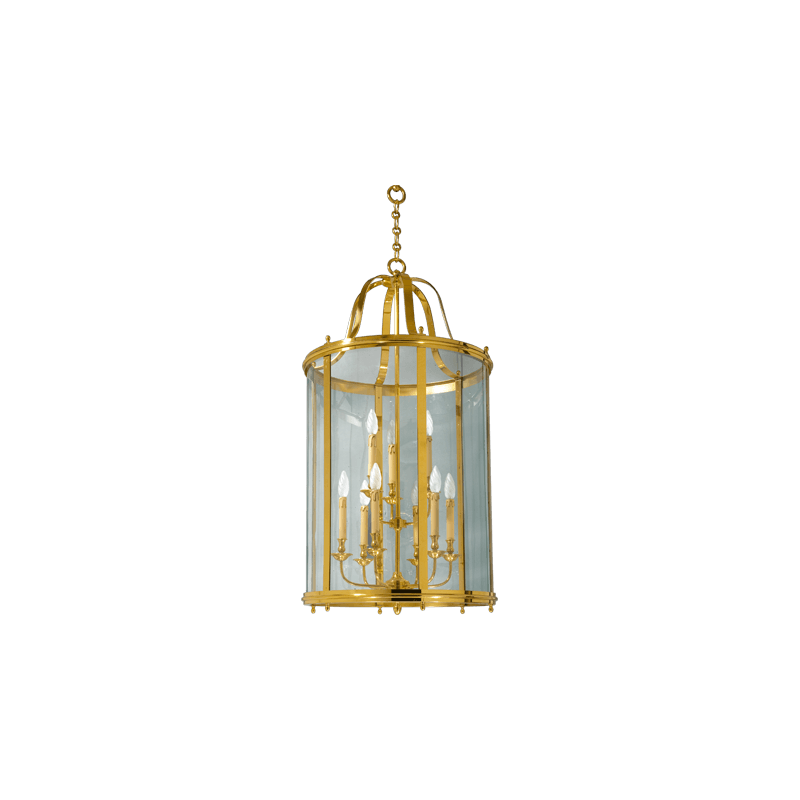 Lucien Gau Classic bronze lantern with nine lights and glass 109/66