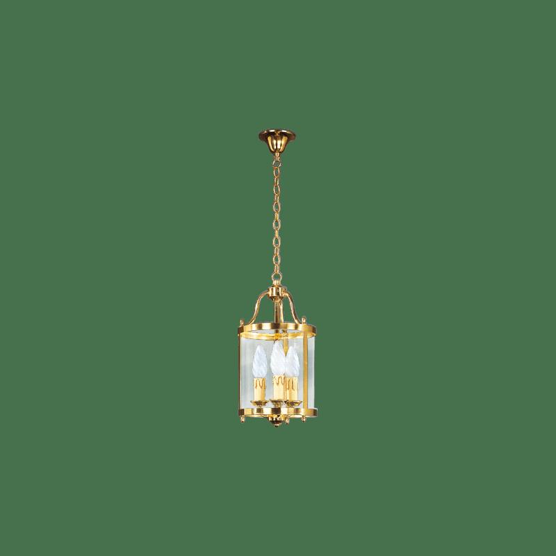 Lucien Gau Klassische Laterne mit drei Lichtern und gebogenem Glas 153/18