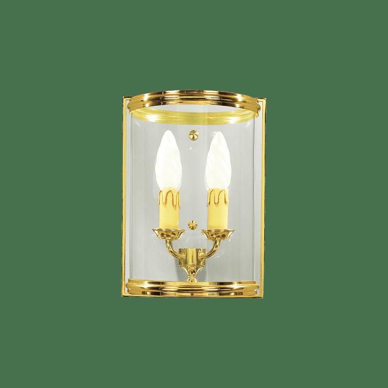 Lucien Gau Applique de style classique à deux lumières avec verre bombé 142