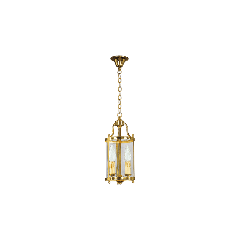 Lucien Gau Classic two-light lantern with curved glass 152/14