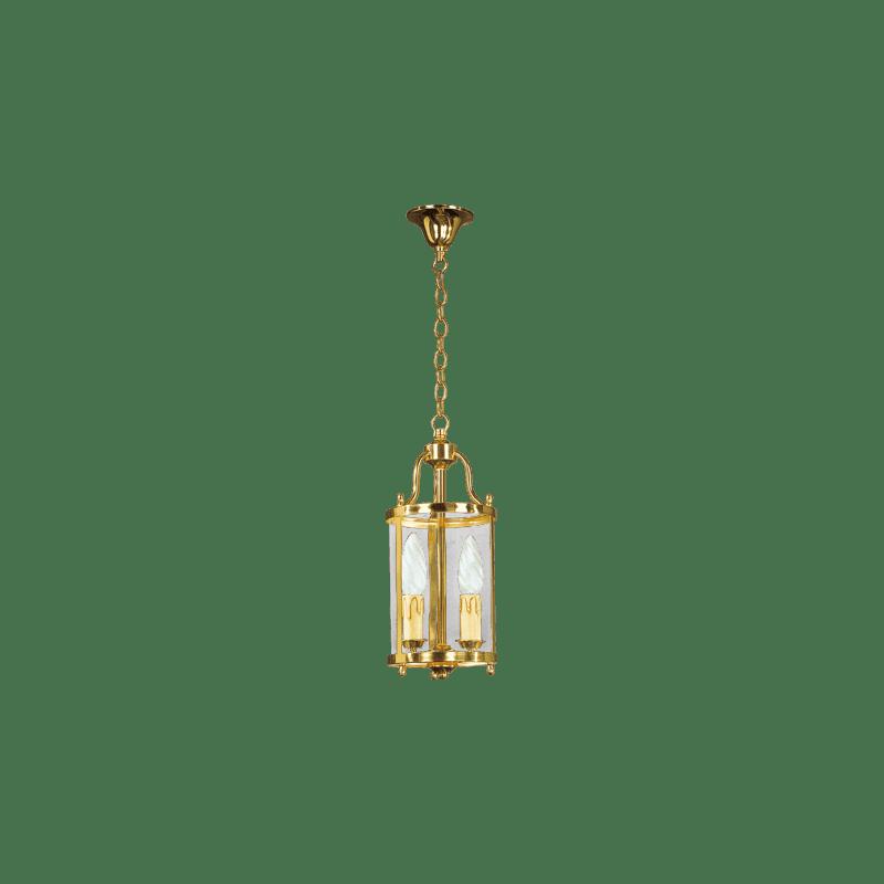 Lucien Gau Classic Zwei-Licht-Laterne mit gebogenem Glas 152/14