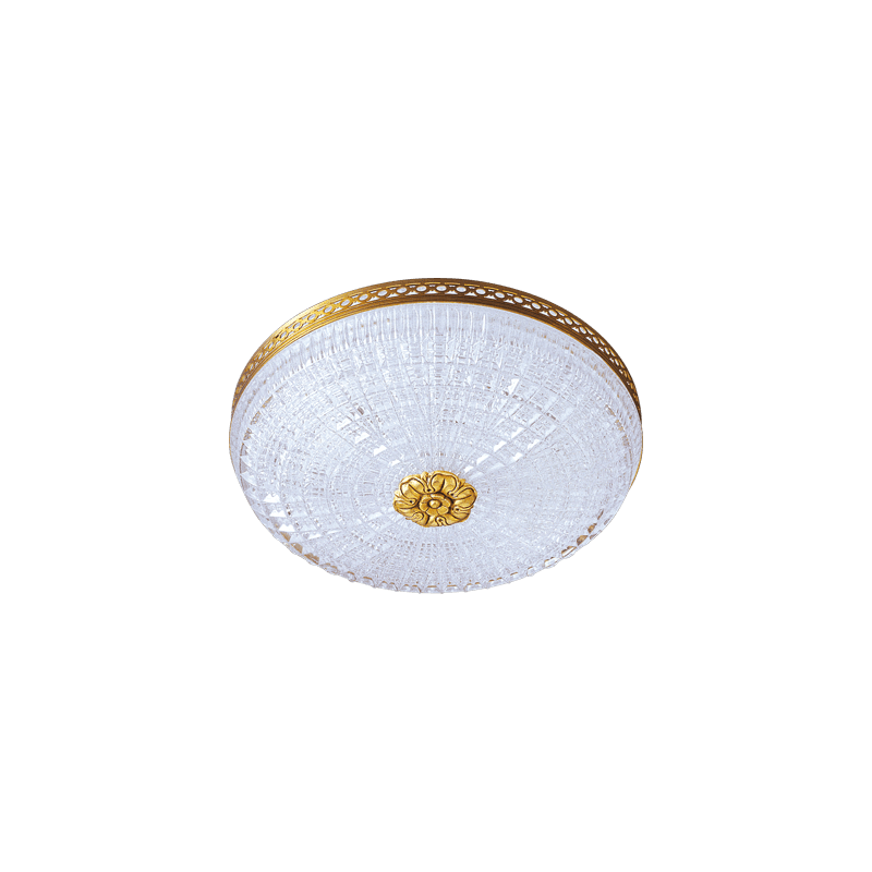 Lucien Gau Lucien Gau 680/25 Zweikristall-Deckenleuchte aus Gold / Kristall