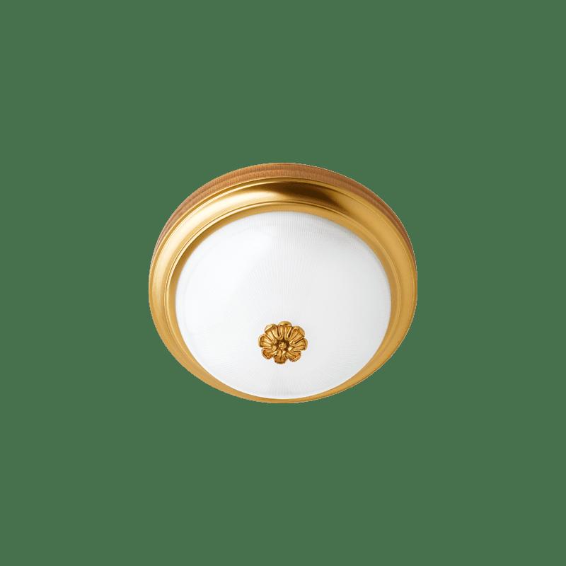 Lucien Gau Große 3-Licht Bronze Deckenleuchte 523