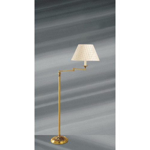 Lucien Gau Louis XVI style articulated floor lamp with lampshade 16611
