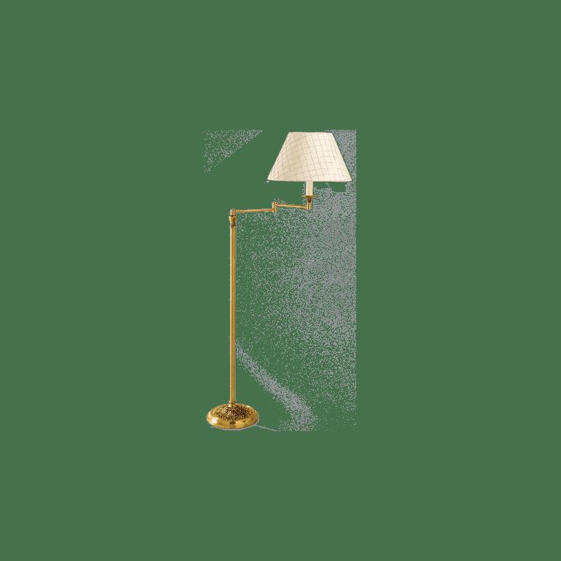 Lucien Gau Louis XVI Stil artikulierte Stehlampe mit Lampenschirm 16611