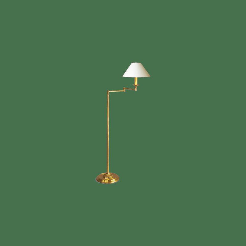 Lucien Gau Louis XVI Stil artikulierte Stehlampe mit Lampenschirm 16111
