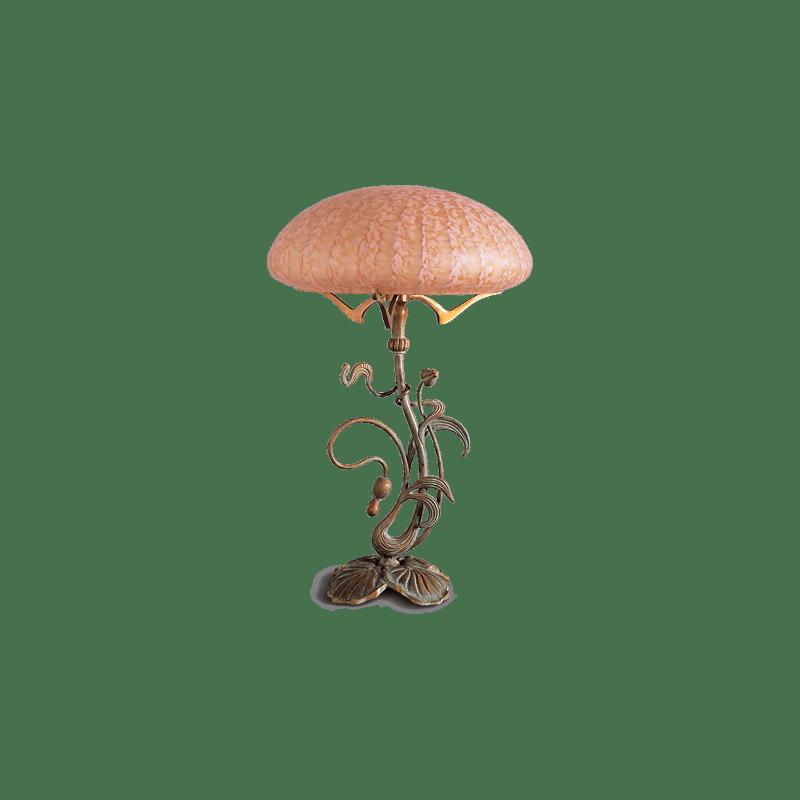 Lucien Gau Art-nouveau romantique lamp with two lights 19922