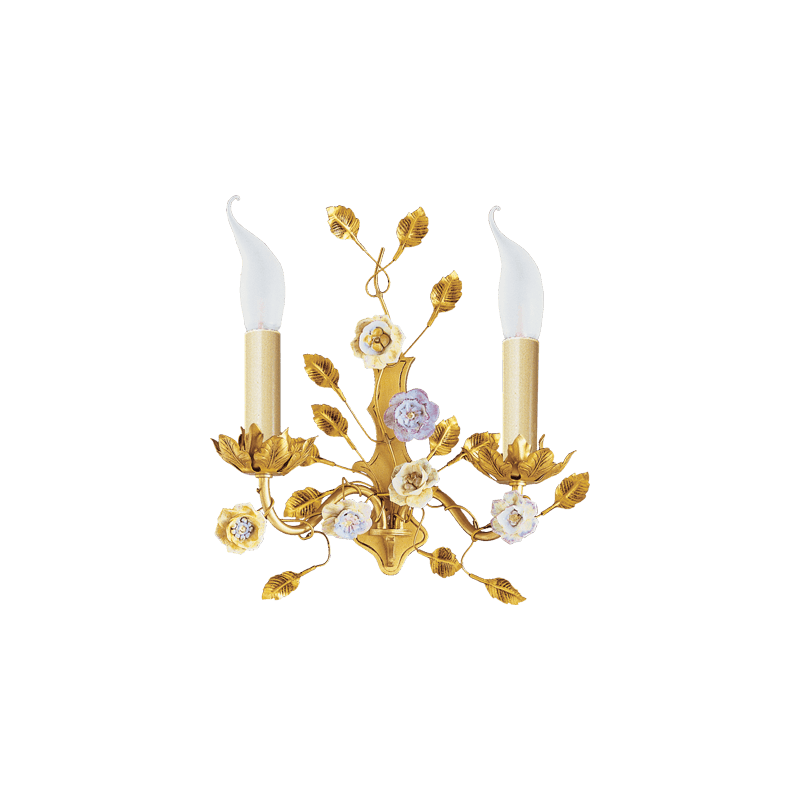 Lucien Gau Art-nouveau romantique wall light with two lights 662