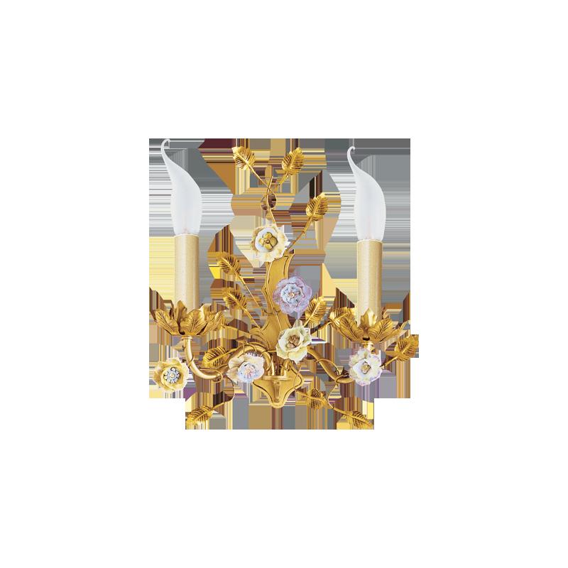 Lucien Gau Art-nouveau romantique Wandleuchte mit zwei Lichtern 662
