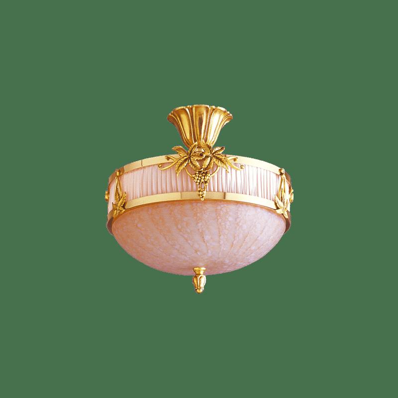 Lucien Gau Art-nouveau Romantique ceiling light with three lights glassware 19573