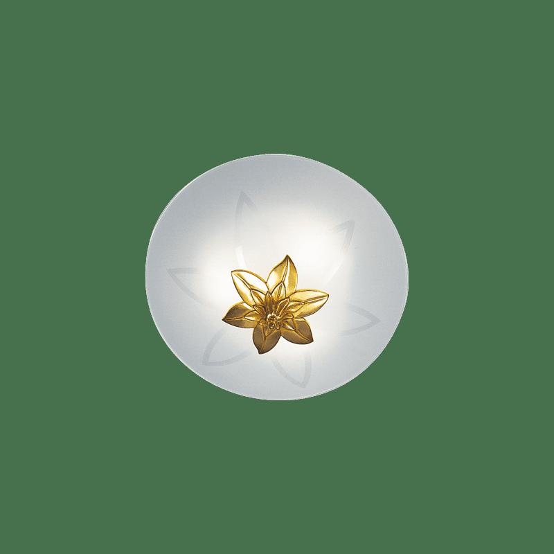 Lucien Gau Drei-Licht-Deckenleuchte aus Bronzeglas 30483 Ramses Art-nouveau Romantique