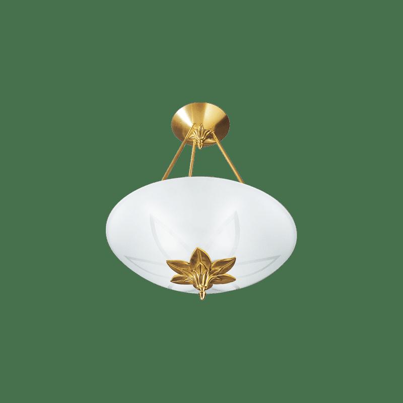 Lucien Gau Art-nouveau Romantique pendant lamp with three lights and glassware 30463 ramses