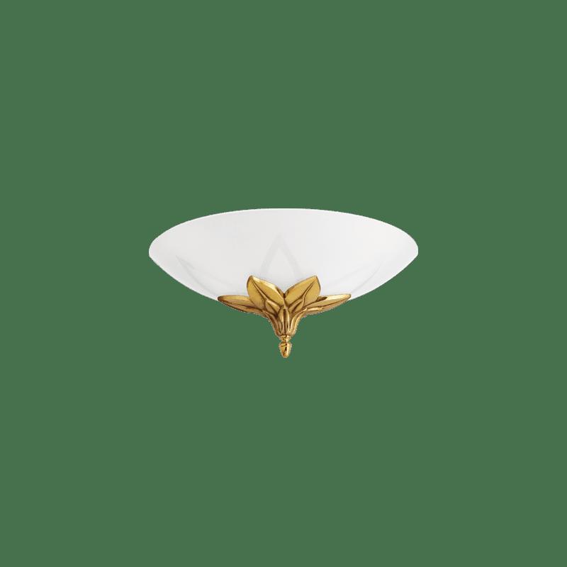 Lucien Gau Bronze wall lamp with single light glass 30481 rames Art-nouveau Romantique