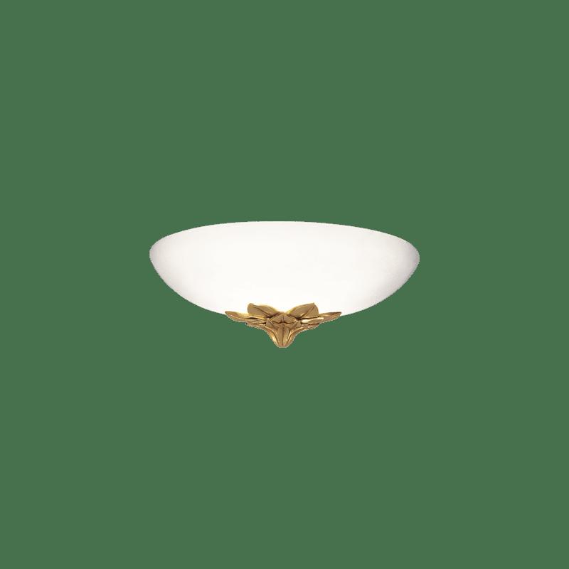 Lucien Gau Bronze wall lamp with glass and single light 27261 rhodes Art-nouveau Romantique