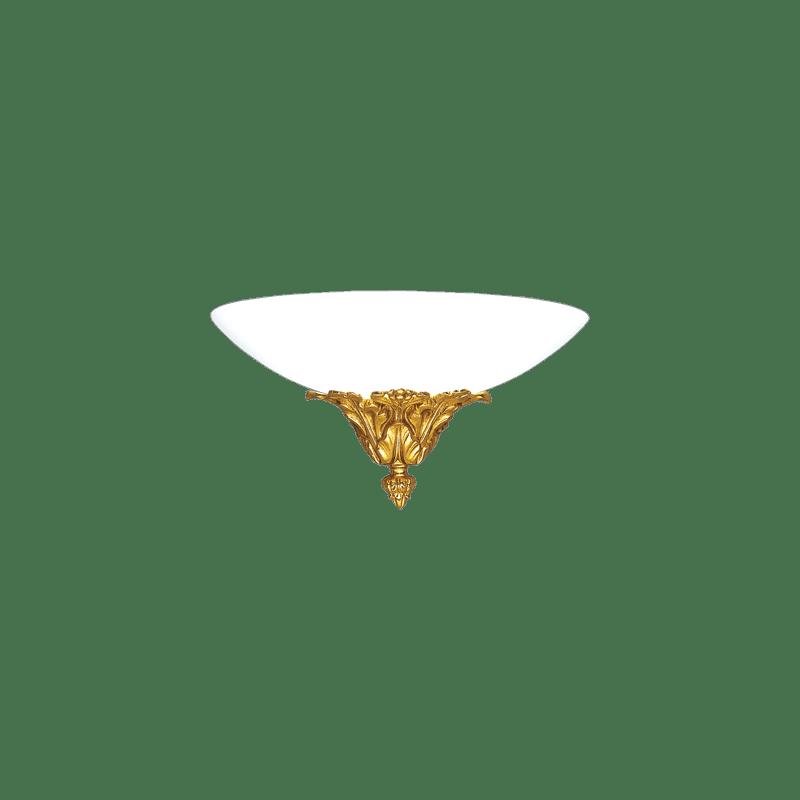Lucien Gau Single light bronze wall light with glassware 18481 versailles Art-nouveau Romantique
