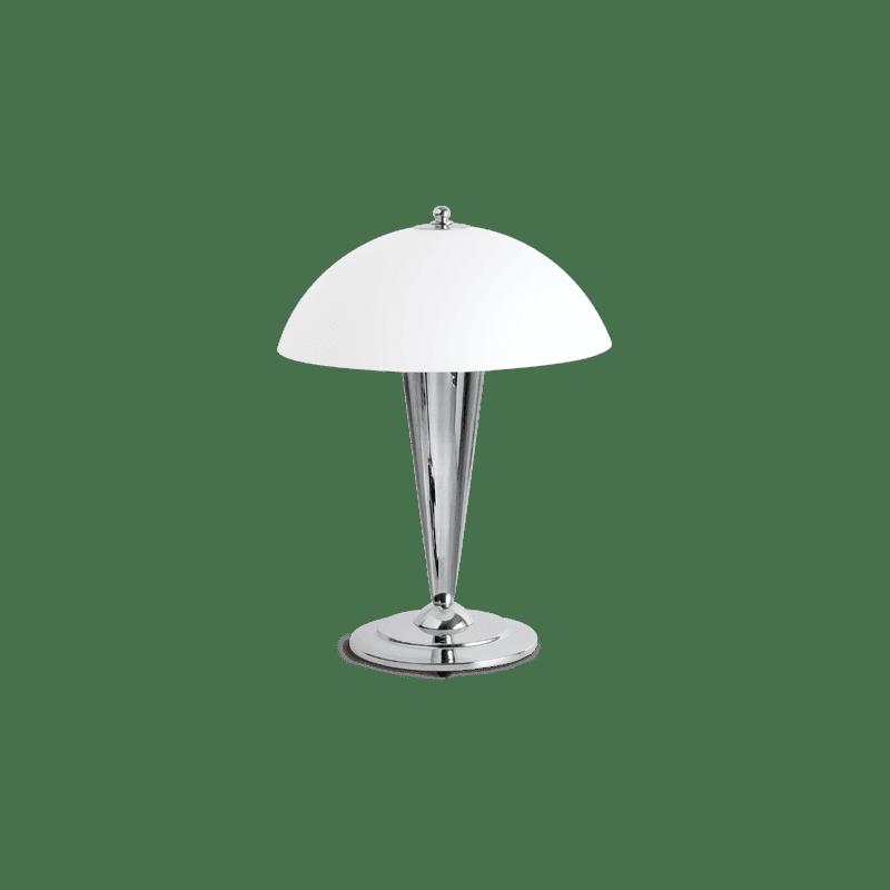 Lucien Gau Chromlampe mit Einzellicht und Lampenschirm 25021 Roller Art-deco