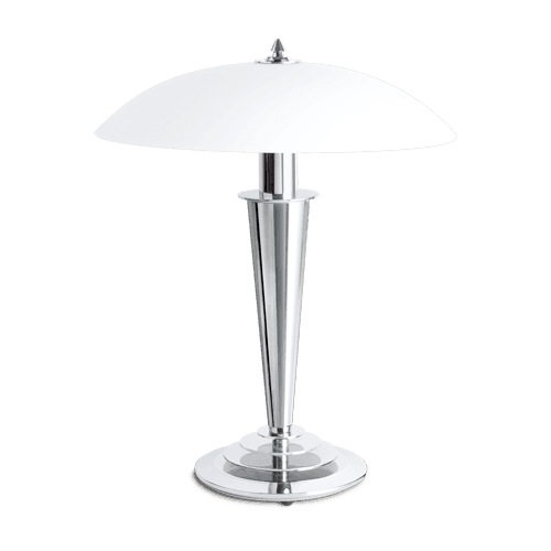 Lucien Gau Chrome lamp with...
