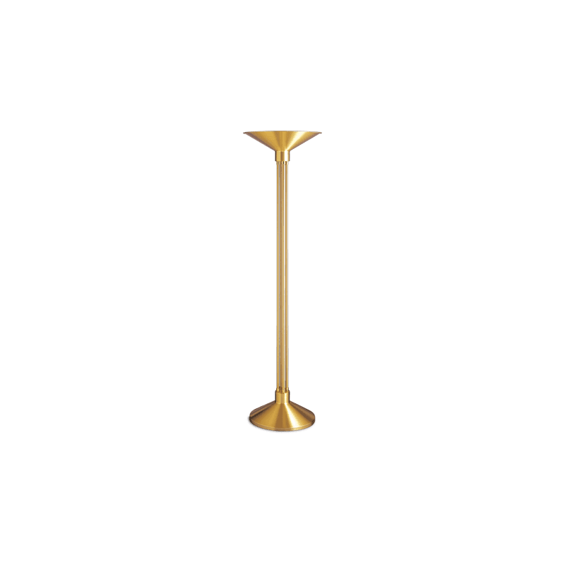 Lucien Gau Art Deco brass floor lamp with lampshade 20121