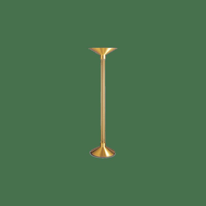 Lucien Gau Art Deco Messing Stehlampe mit Lampenschirm 20121