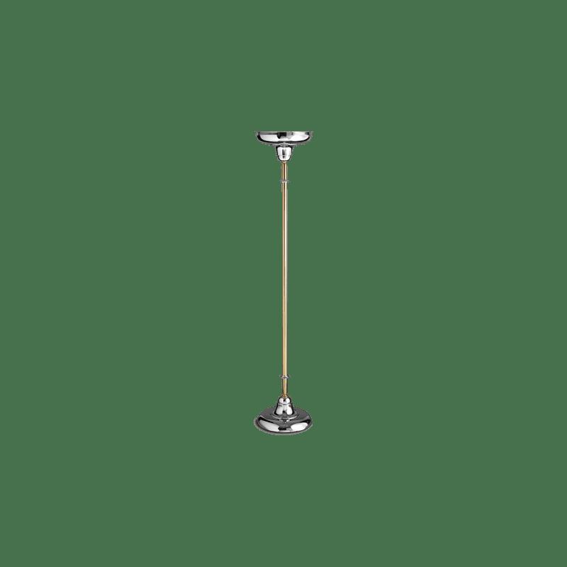 Lucien Gau TROCADERO Stehleuchte Gold Chrom mit Lampenschirm 20161 Art-déco