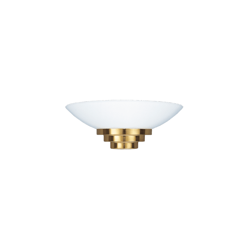 Lucien Gau Golden art deco wall lamp with lampshade 28341 maya