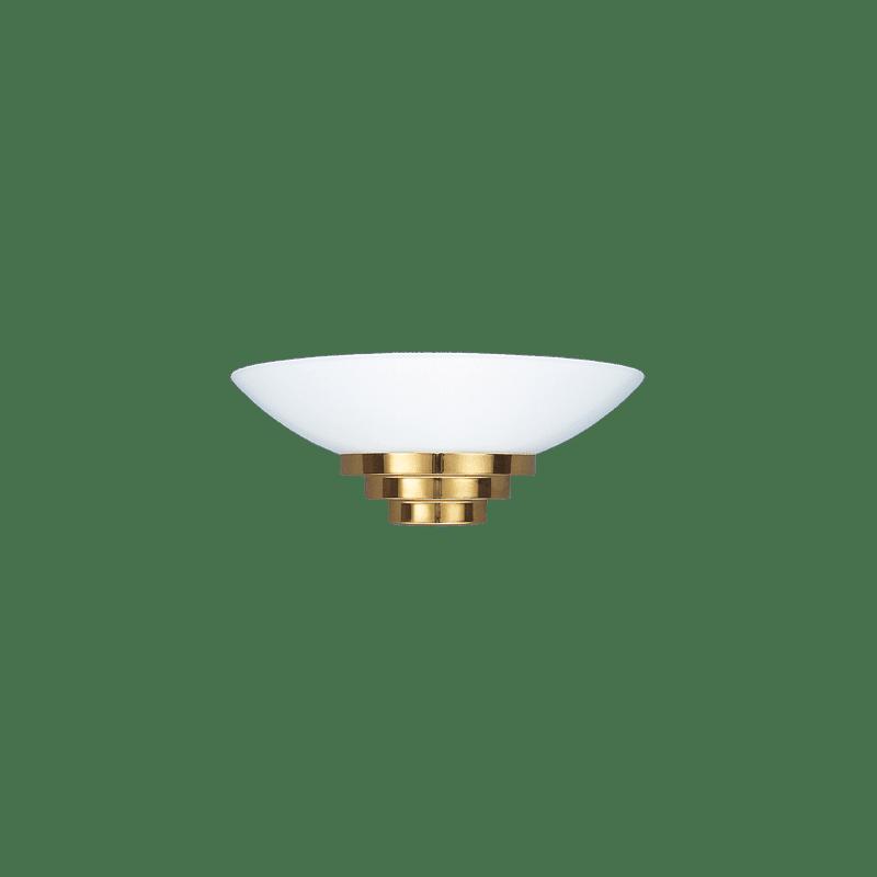 Lucien Gau Goldene Art-Deco-Wandleuchte mit Lampenschirm 28341 Maya