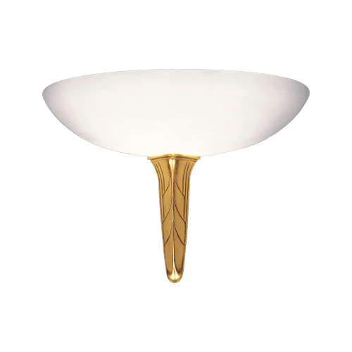 Lucien Gau Wall lamp old gold alabaster with glassware 27251 akénaton Art-deco