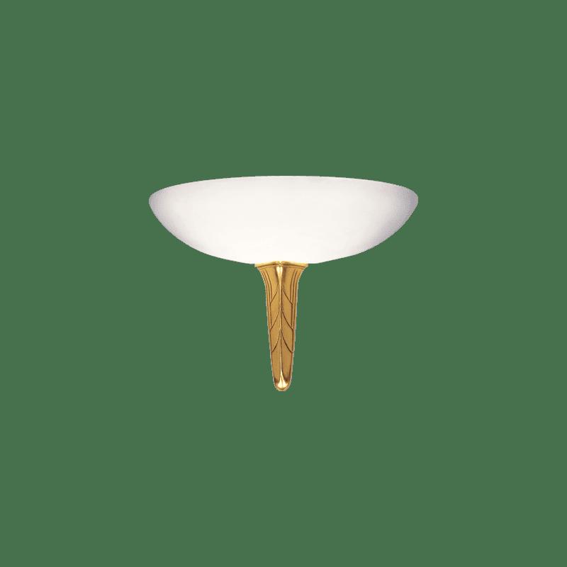Lucien Gau Wandleuchte alter Gold Alabaster mit Glaswaren 27251 Akénaton Art-deco