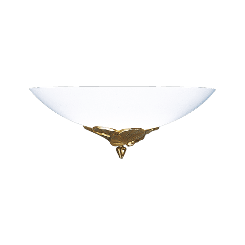 Lucien Gau Wall lamp old gold with glassware 30321 Nymphéa Classique