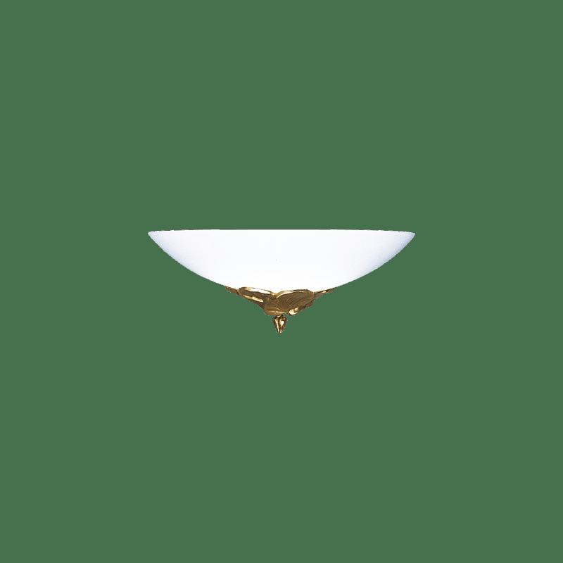 Lucien Gau Wandleuchte Altgold mit Glaswaren 30321 Nymphéa Classique