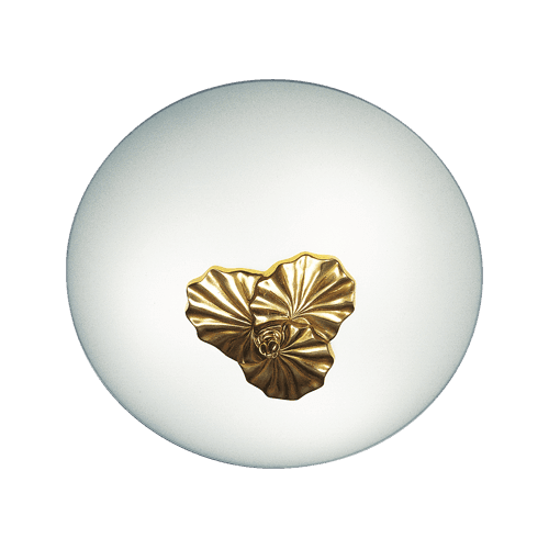 Lucien Gau Three-light bronze ceiling lamp 30343 Nymphéa Classique