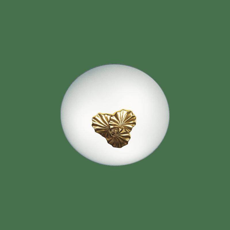 Lucien Gau Deckenleuchte aus Bronze mit drei Lichtpunkten 30343 Nymphéa Classique