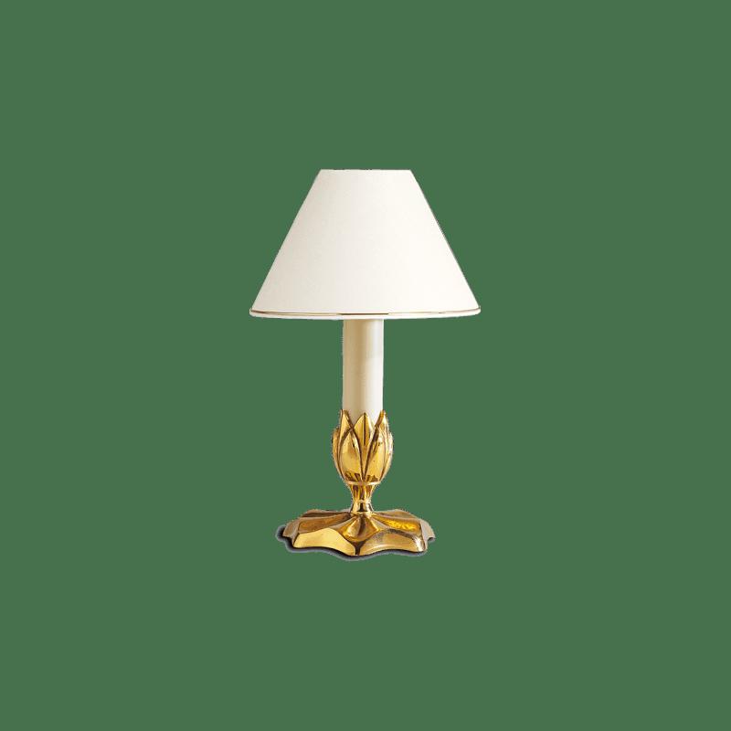 Lucien Gau Kerzenleuchte mit einem Licht und Lampenschirm 31361 Nymphéa Classique