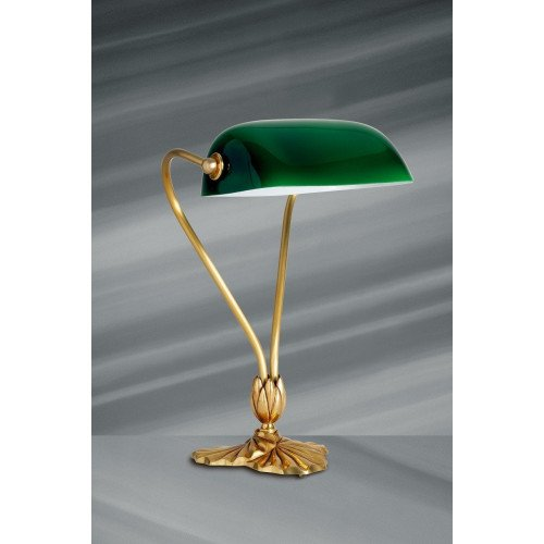 Lucien Gau Classic table lamp with single light and glassware 31511 Nymphéa