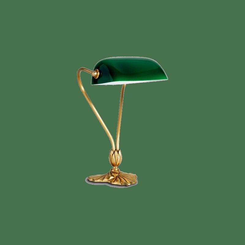 Lucien Gau Klassische Tischleuchte mit Einzellicht und Glas 31511 Nymphéa