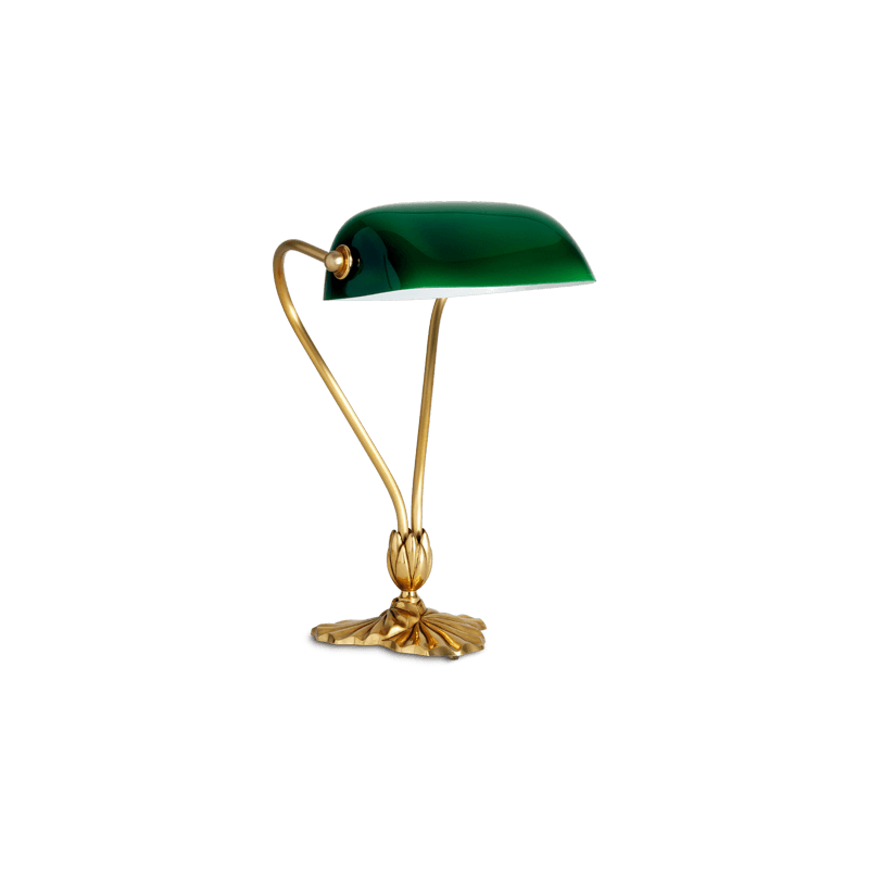 Lucien Gau Lampe de table classique à simple lumière et verrerie 31511 Nymphéa