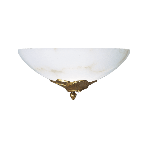 Lucien Gau Golden wall lamp with alabaster glassware 30311 Nymphéa Classique