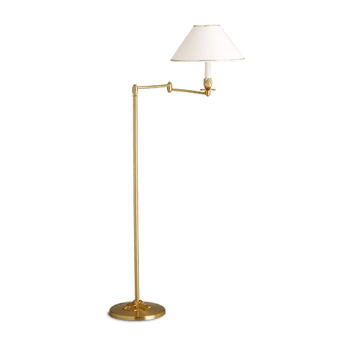 Lucien Gau Floor lamp with single light and shade 31521 Nymphea Classique