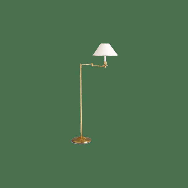 Lucien Gau Lampadaire articule à simple lumière et abat-jour 31521 Nymphéa Classique