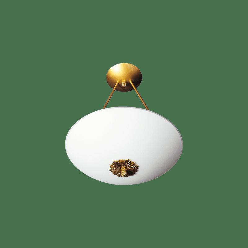 Lucien Gau Two-light glass ceiling light 18172 Joséphine Classique