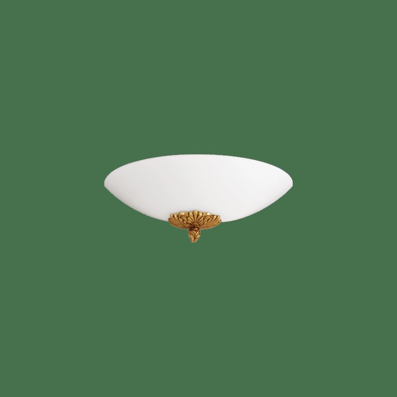 Lucien Gau Single light golden wall lamp with glassware 18171 Joséphine Classique
