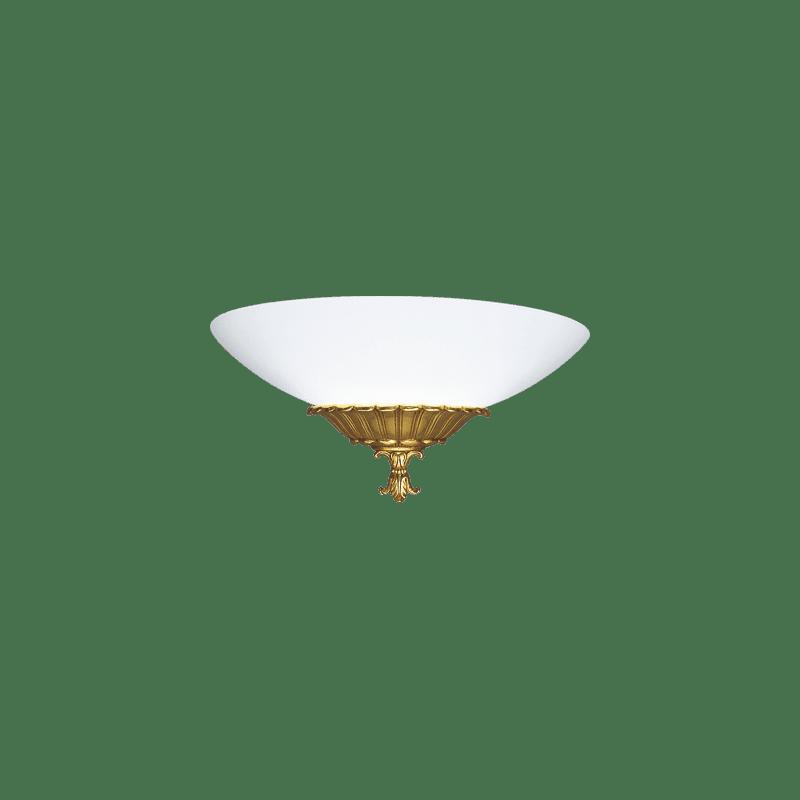 Lucien Gau Single-light wall light with glass 18471 Ammon Classique