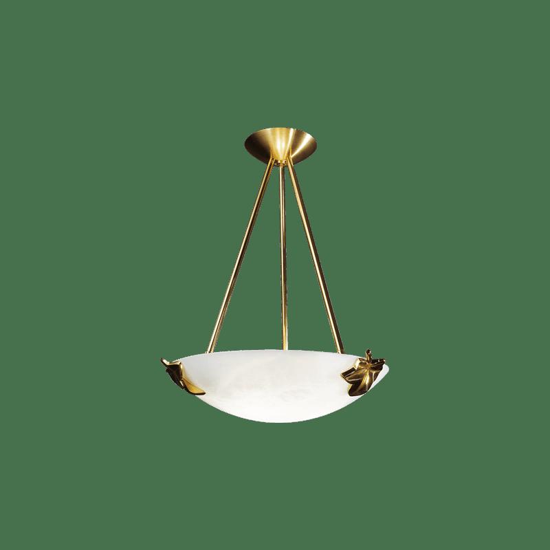 Lucien Gau Drei-Licht-Glasdeckenleuchte 30423 Adam Classique