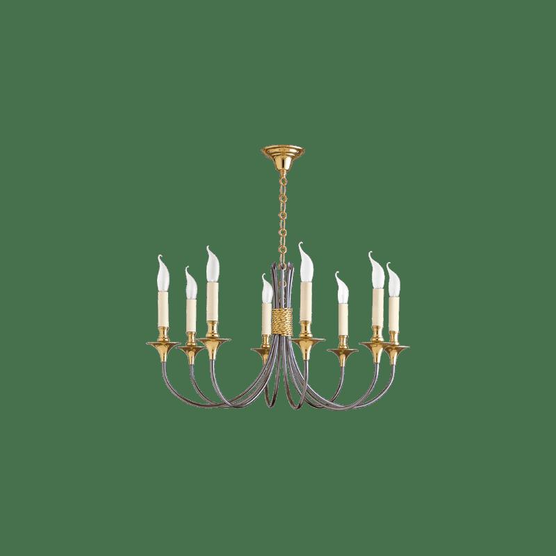 Lucien Gau Classique eight-light chandelier 04138 bis liens Classique
