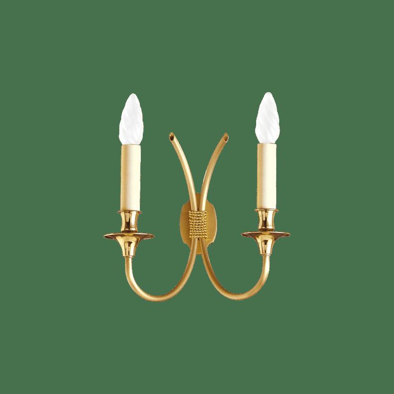 Lucien Gau Classique Wandleuchte mit zwei Lichtern 4132 Glieder
