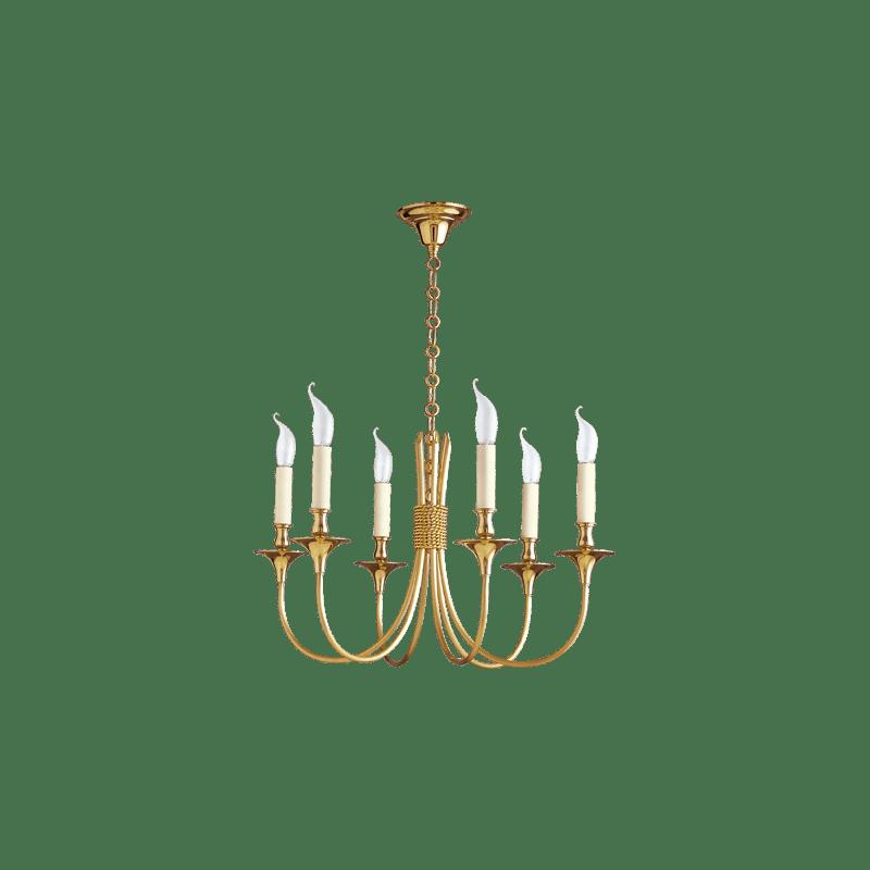 Lucien Gau Classique six-light chandelier 4136 liens