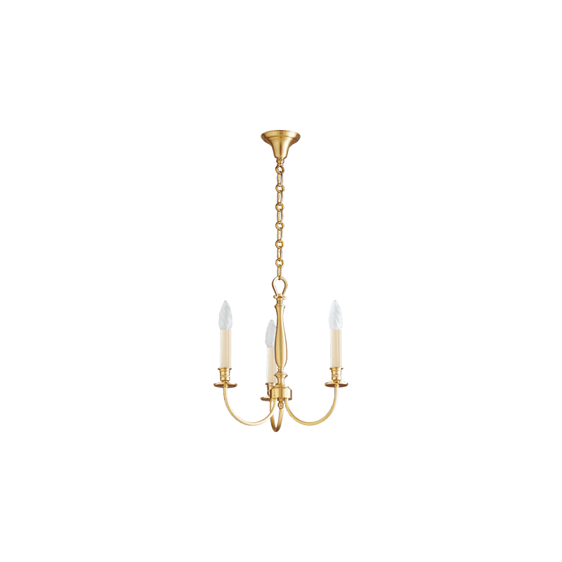 Lucien Gau Kronleuchter Classique mattgold drei Lichter 17703 Arkade