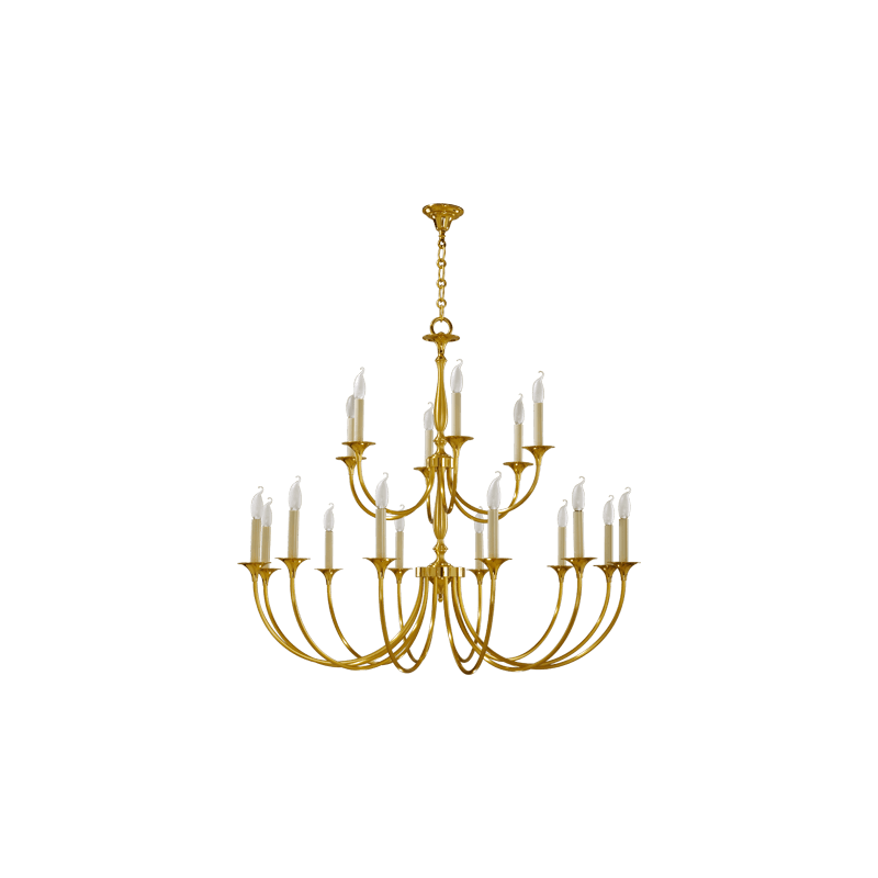 Lucien Gau Klassische Kerze mit achtzehn Lichtern 17818 Sologne