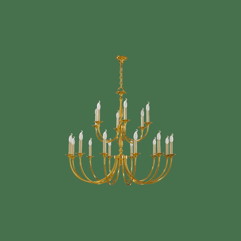 Lucien Gau Lustre classique à dix-huit lumières 17818 sologne