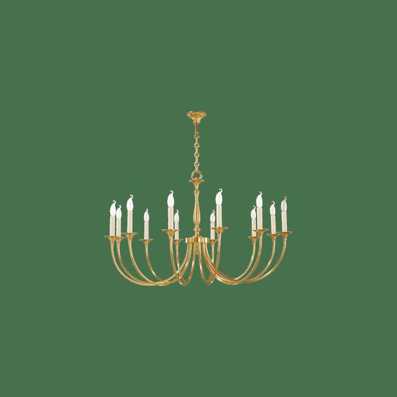 Lucien Gau Classique Kronleuchter mit zwölf Lichtern 17812 Sologne